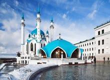 De Moskee van Qolsharif in Kazan het Kremlin stock foto's