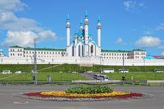 De Moskee van Qolsharif in Kazan het Kremlin, Rusland Stock Foto