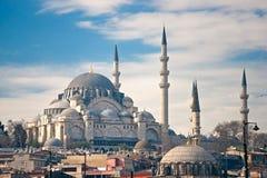 De Moskee van Süleymaniye, Istanboel, Turkije. royalty-vrije stock afbeelding