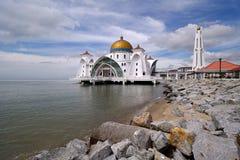De Moskee van Selat, Melaka Royalty-vrije Stock Afbeeldingen
