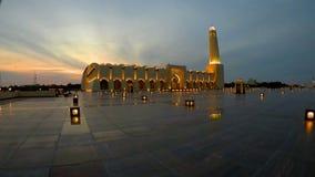De moskee van de staat van Qatar stock video
