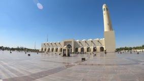 De moskee van de staat van Qatar stock footage