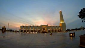 De moskee van de staat van Qatar stock videobeelden