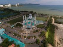 De Moskee van de Stad van Kinabalu van Kota royalty-vrije stock foto's