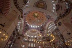 De Moskee van Suleiman Stock Afbeeldingen