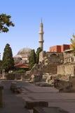 De Moskee van Suleiman van het Oriëntatiepunt van Rhodos Stock Foto's