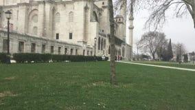 De Moskee van Suleymaniye stock videobeelden