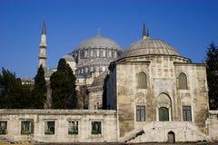 De Moskee van Suleymaniye in Istanboel stock fotografie