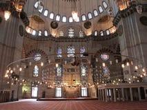De moskee van Suleymaniye in Istanboel, Turkije Stock Fotografie
