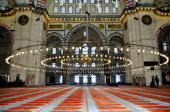 De moskee van Suleymaniye in Istanboel, Turkije Stock Afbeeldingen