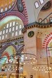 De Moskee van Suleymaniye in Istanboel Turkije Royalty-vrije Stock Afbeelding
