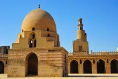 De moskee van Tulum van Ibn in Kaïro in Kaïro stock foto's
