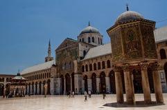 De moskee van Umayad in Damascus Stock Foto