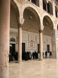 De moskee van Umayyad in Damascus, Syrië Royalty-vrije Stock Afbeeldingen