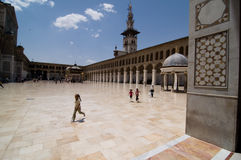 De Moskee van Umayyad (Grote Moskee van Damascus) Stock Afbeelding