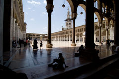 De Moskee van Umayyad (Grote Moskee van Damascus) Royalty-vrije Stock Afbeelding