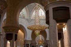 De sjeik zayed moskee Stock Afbeeldingen