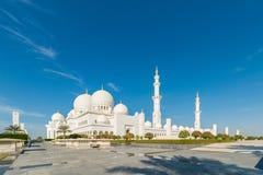 De Moskee van Zayed van de sjeik in Abu Dhabi stock afbeelding