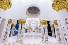 De Moskee van Zayed van de sjeik in Abu Dhabi stock foto's
