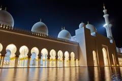 De Moskee van Zayed van de Sjeik van Abu Dhabi Royalty-vrije Stock Fotografie