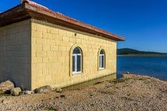 De moskee in water Stock Foto's