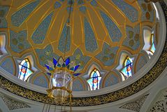 De moskeebinnenland van Kulsharif in Kazan het Kremlin, Rusland stock fotografie