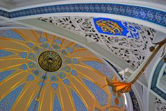 De moskeebinnenland van Kulsharif in Kazan het Kremlin, Rusland stock foto's