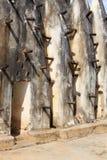 De moskeemuur van de modder en van de stok Royalty-vrije Stock Fotografie