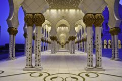 De moskees de V.A.E van Zayed van de sjeik Royalty-vrije Stock Fotografie