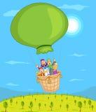 De moslimballon van de familie berijdende lucht Royalty-vrije Stock Afbeeldingen