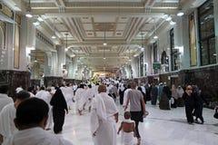 De moslimpelgrims voeren saei uit Royalty-vrije Stock Fotografie