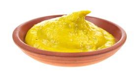 De mosterd van Jalapeno in kleine schotel Royalty-vrije Stock Afbeeldingen