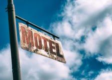 De motelwijnoogst roestte Teken royalty-vrije stock foto's