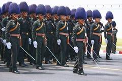 De Motie van Koninklijk Thais Leger stock afbeeldingen