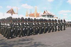 De Motie van Koninklijk Thais Leger stock foto's