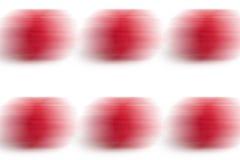 De motie vertroebelde groot frambozen abstract patroon op witte achtergrond Stock Foto