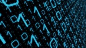 De motieconcept van computer binair gegevens stock illustratie