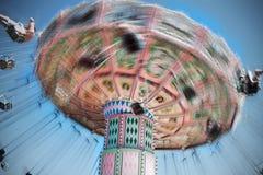 De motieonduidelijk beeld van de carrousel Stock Foto's