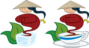 De motieven van de thee vector illustratie