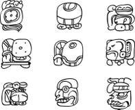De motieven van Mexicaan, aztec of maya, glyphs Royalty-vrije Stock Foto's