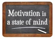 De motivatie is een gemoedsgesteldheid stock afbeeldingen