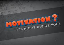 De motivatie is in u Stock Fotografie