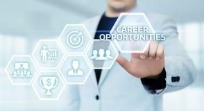 De Motivatie van bedrijfs carrièrekansen Succes Collectief Concept stock afbeeldingen