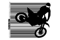 De motocrossbestuurders silhouetteren Vector illustratie stock illustratie