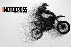 De motocrossbestuurders silhouetteren Vector illustratie vector illustratie