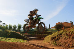 De motocrossconcurrentie De Catalaanse Liga van het Motocrossras Stock Afbeelding