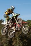 De motocrossconcurrentie De Catalaanse Liga van het Motocrossras Stock Foto's