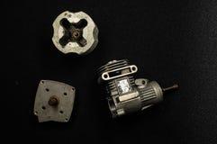 De motor 3d model van de zuigermotor Stock Afbeelding