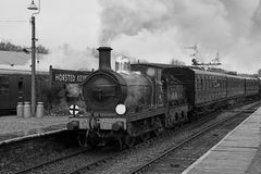 De motor en de trein van de stoom Royalty-vrije Stock Afbeelding