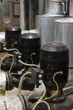 De motor met pomp en stoom het verwarmen Royalty-vrije Stock Afbeeldingen